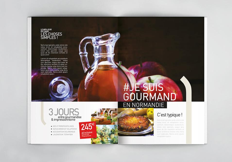 Département de l'Eure Identité visuelle Brochure touristique couverture Little Big Idea