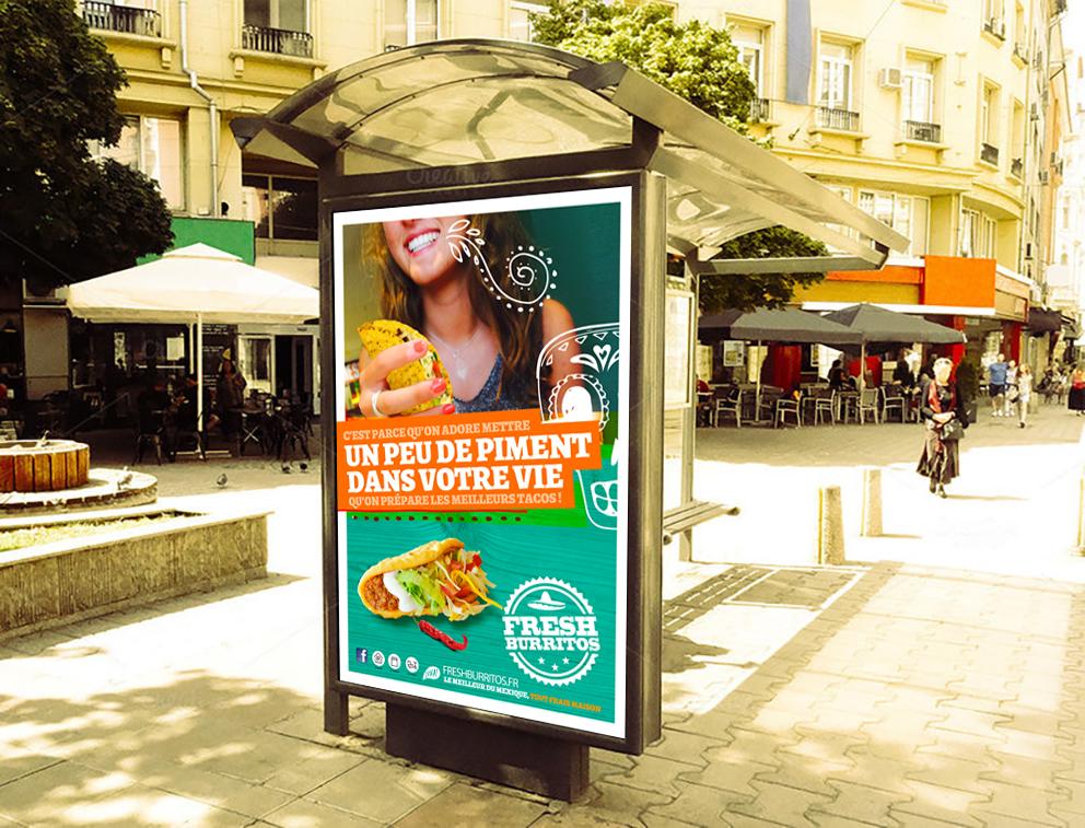 Fresh Burritos Campagne image Little Big Idea