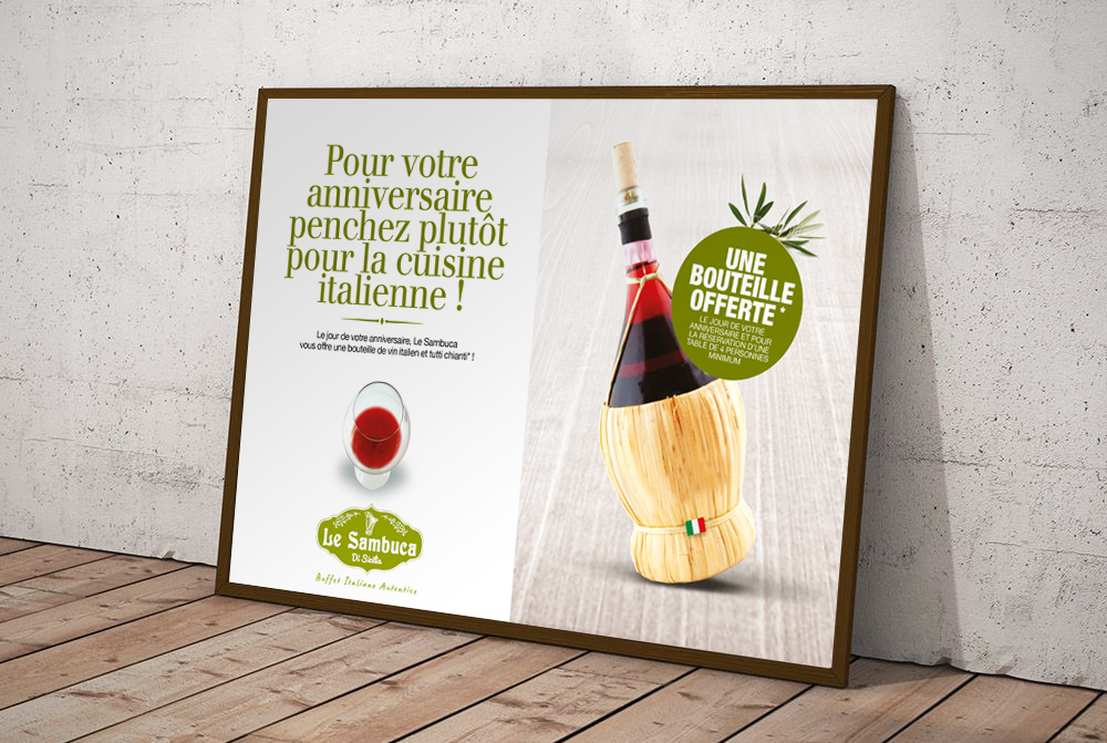 Le Sambuca Campagne promo Little Big Idea