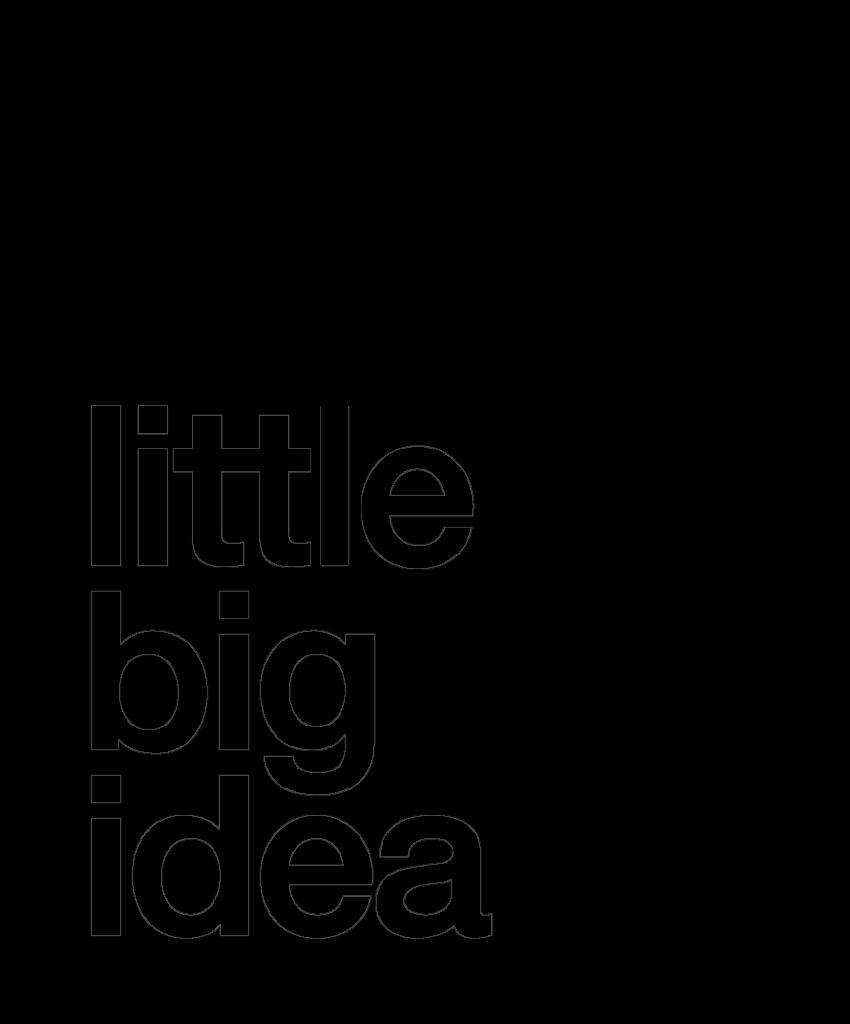 Logo Little Big Idea Noir Little Big Idea Agence de Communication Lilloise