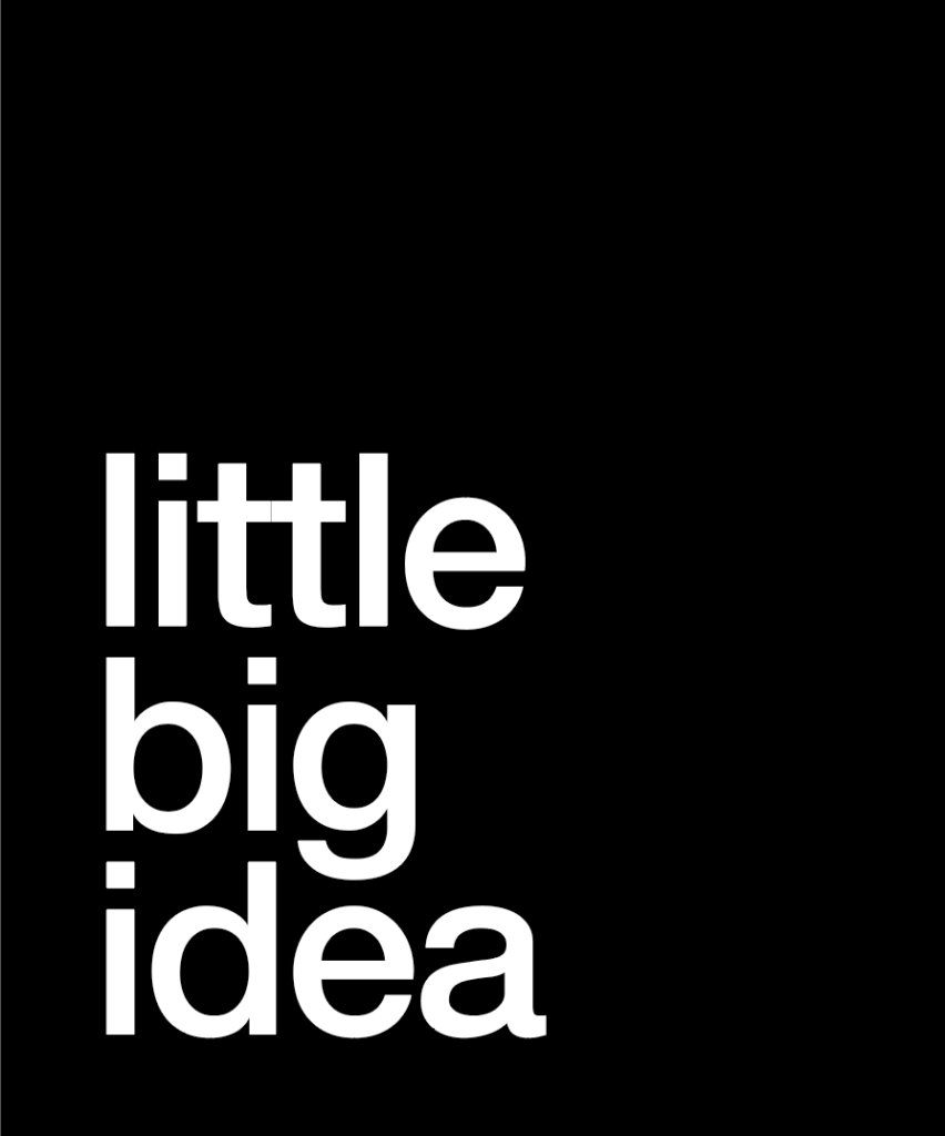 logo noir Little Big Idea agence de communication